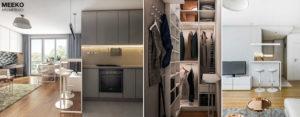 Apartament w odcieniach bieli i szarości projektu studia MEEKO Architekci
