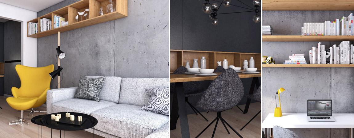 Wnętrza mieszkania w Knurowie. Projekt: Spacja Studio