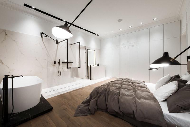 Apartament w zabytkowej kamienicy. Projekt wnętrz: Nasciturus Design