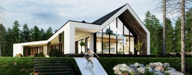Dom Zawieszony – nowoczesna stodoła z widokiem na góry projektu SK-Architekci
