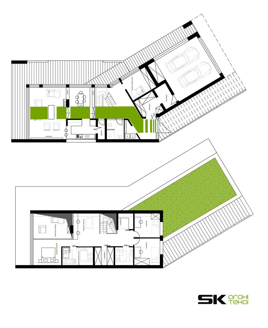 Dom Zawieszony. Projekt: SK-ARCHITEKCI | Arch. Karola Szkapiak