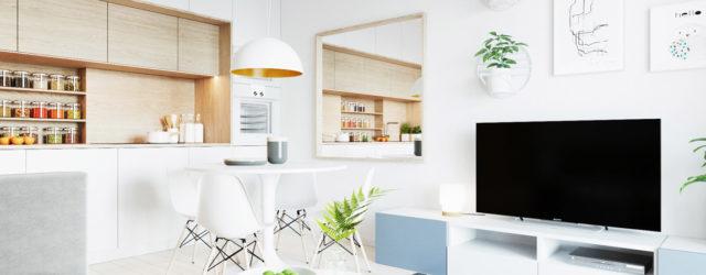 Pogodne wnętrza mieszkania w odcieniach bieli studia 081 Architekci