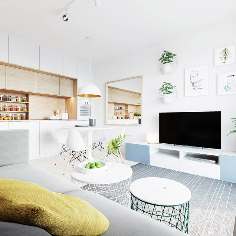 Wnętrza mieszkania we Wrocławiu. Projekt: 081 Architekci