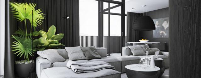 Eleganckie połączenie czerni i bieli – Apartament projektu studia DEKAA Architects