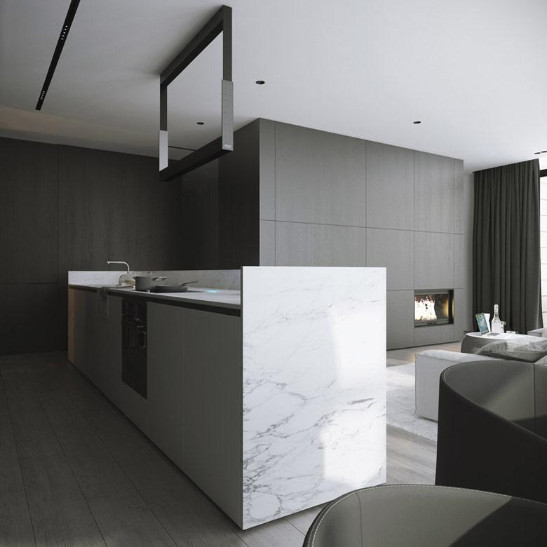 Wnętrza apartamentu na warszawskim Wilanowie. Projekt: DEKAA Architects | Bartosz Deka