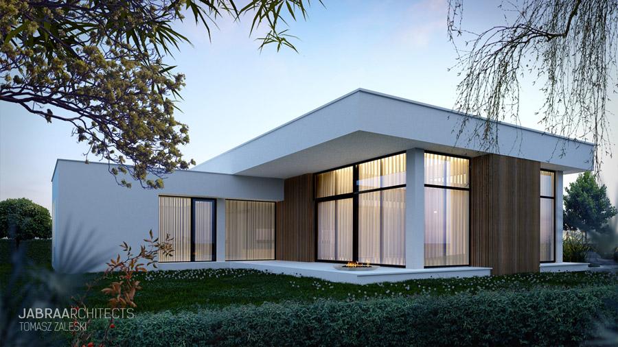 T-House - Dom w podmiejskim krajobrazie. Projekt: JABRAARCHITECTS