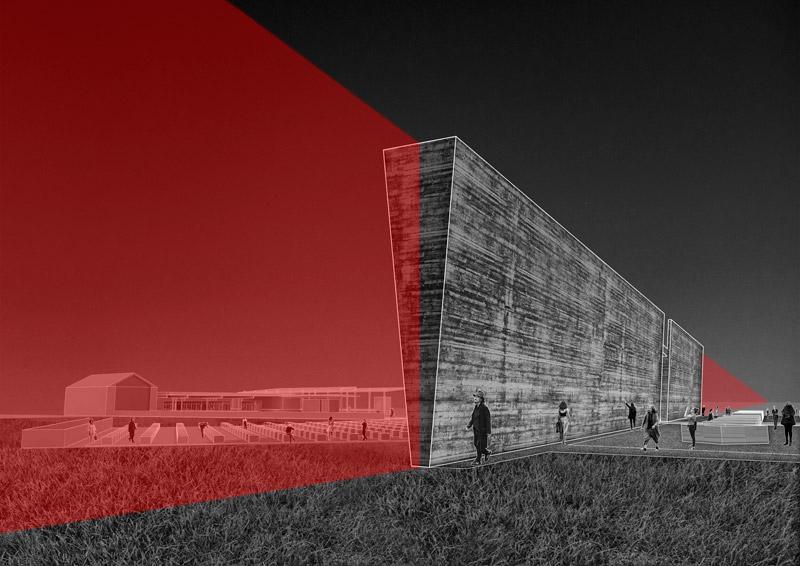 Dyplomy Architektury: [NIE]ISTNIEJĄCE GRANICE. Autorzy: Piotr Pasierbiński, Ewa Sroczyńska