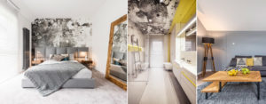 Kompozycja szarości i kolorowych akcentów – wnętrza mieszkania projektu studia KK Architekci