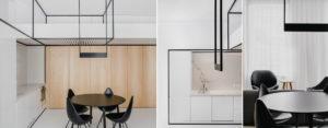 Szkielet brył lewitujących w przestrzeni – wnętrza apartamentu projektu MUS Architects