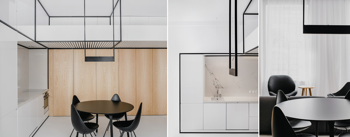 Wnętrza apartamentu pod Wawelem w Krakowie. Projekt: MUS ARCHITECTS