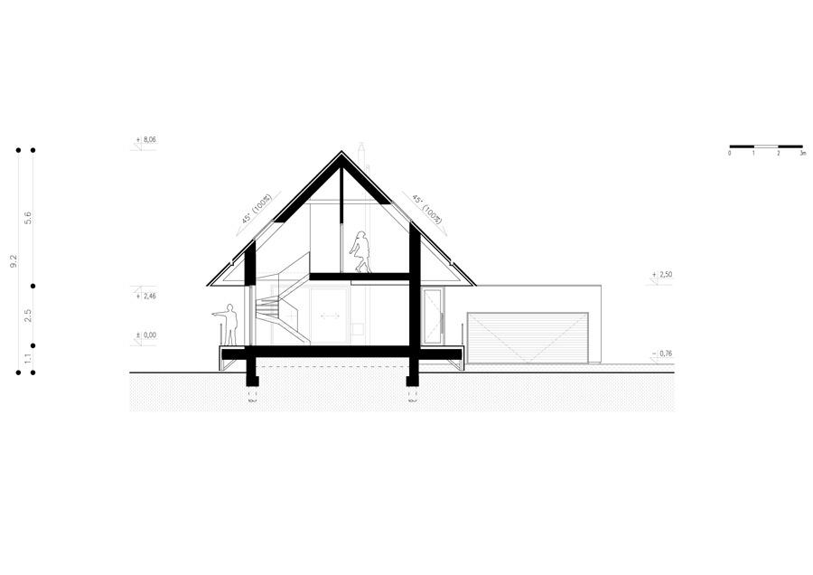 Dom z widokiem w Mogilanach.. Projekt: doomo studio architektoniczne