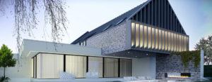 """Projekt domu """"+house"""" w Bielanach Wrocławskich studia JABRAARCHITECTS"""