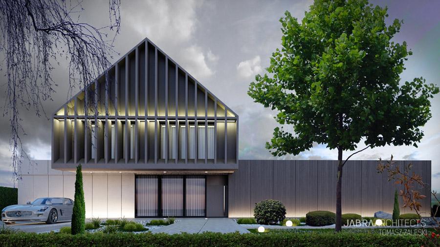 """Projekt domu """"+house"""", Bielany Wrocławskie. Autorzy: JABRAARCHITECTS"""