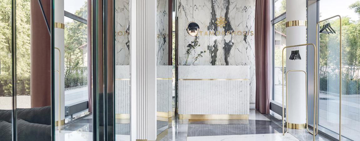 Wnętrza Salonu Makijażu Metamorphosis. Projekt: JT Grupa. Zdjęcia: Tom Kurek