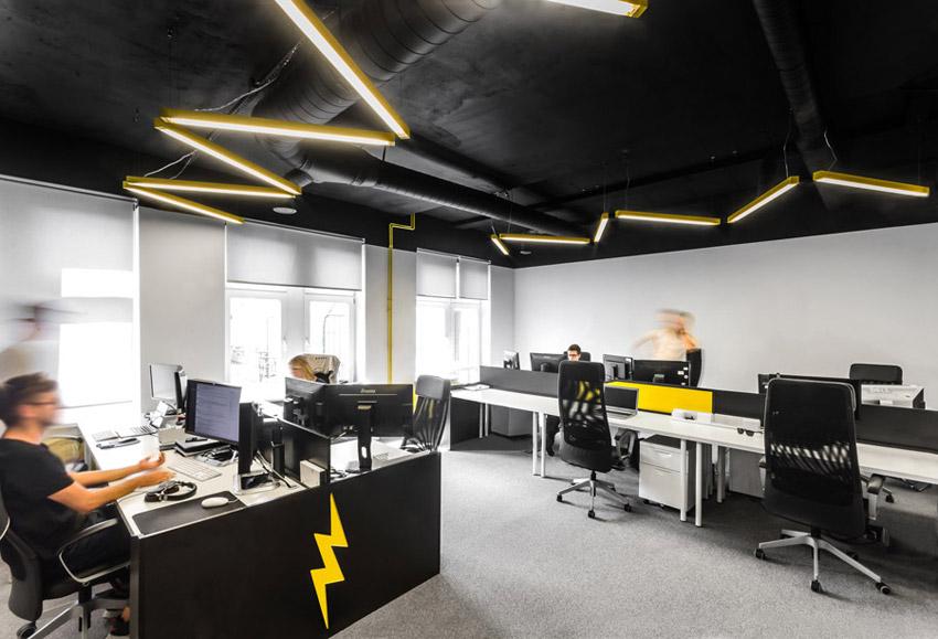 Wnętrza biurowe Droids On Roids. Projekt: mode:lina™