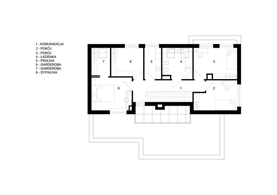 Dom jednorodzinny w Rembertowie. Projekt: Pracownia Projektowa Bień Architekci