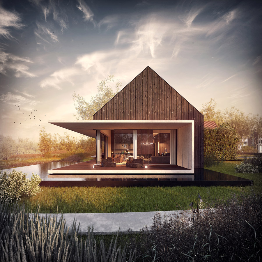 """""""Combo z widokiem"""". Projekt: Kabarowski Misiura Architekci. Wizualizacje: Vivid Vision"""