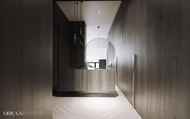 Wnętrza apartamentu na warszawskich Kabatach. Projekt: DEKAA Architects | Bartosz Deka