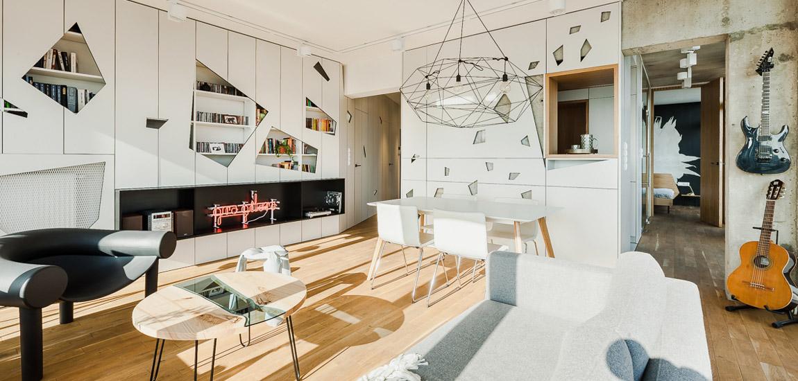 Mieszkanie z widokiem – Pomysłowe wnętrza projektu studia Mili Młodzi Ludzie