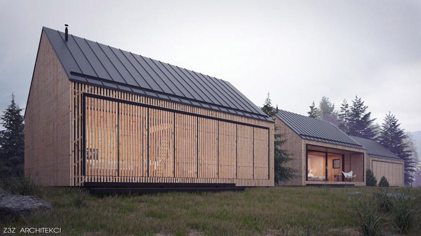 Domy w Bieszczadach. Projekt: Z3Z ARCHITEKCI | Mateusz Zajkowski