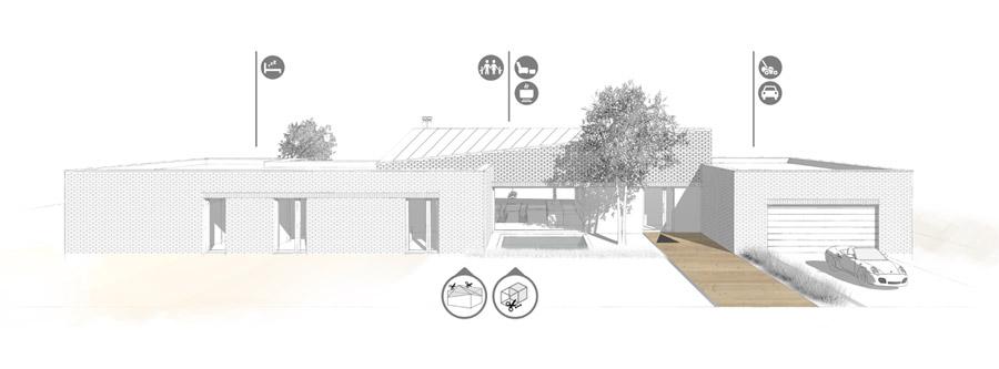 """""""Dom po przekątnej"""". Projekt: Libido Architekci"""