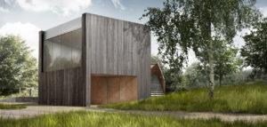 Kompozycja budynków z różnych epok – dom na Kaszubach projektu studia INTERURBAN