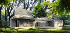 Forrest House – willa w parkowej scenerii projektu JABRAARCHITECTS