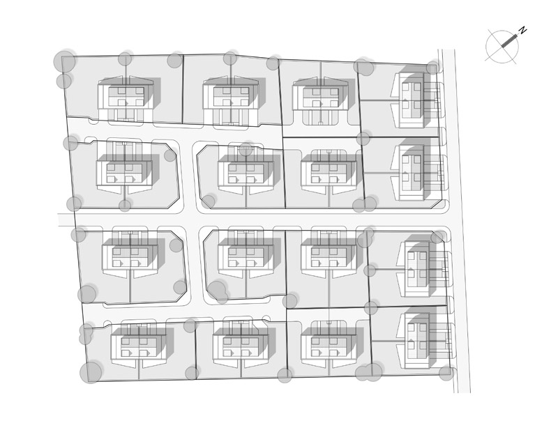 Zespół budynków jednorodzinnych w Wiślince. Projekt: JPP Architekci