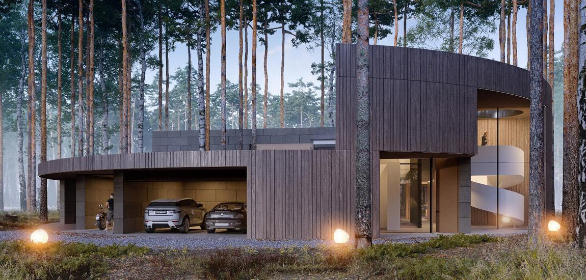 Circle Wood – Dom na planie koła projektu studia Mobius Architekci