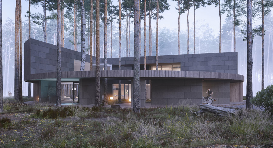 Circle Wood, Warszawa. Projekt: Mobius Architekci Przemek Olczyk