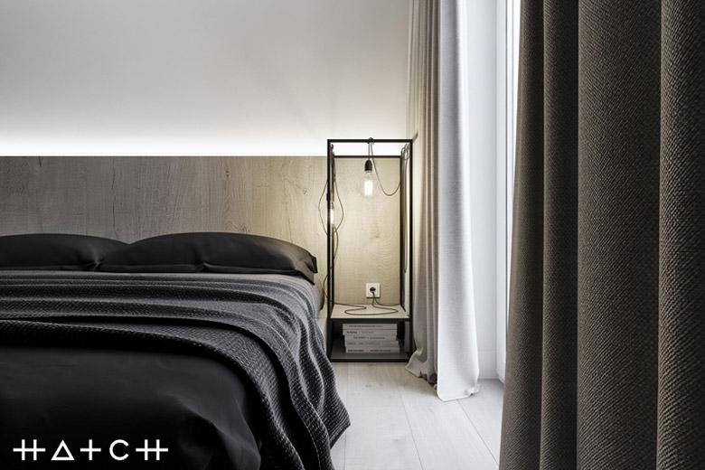 Wnętrza apartamentu w Łodzi. Projekt: HATCH Studio