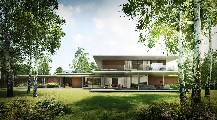 """""""Dom to mało"""". Projekt: Kabarowski Misiura Architekci. Wizualizacje: Klaudiusz Angerman"""