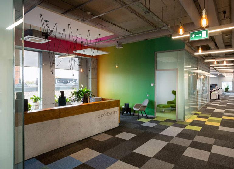 Wnętrza biurowe Codewise. Zdjęcie: Piotr Mastalerz