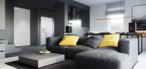 Monochromatyczne wnętrza domu pracowni 081 Architekci