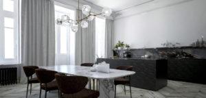 Klasyka i nowoczesny design – apartament w kamienicy projektu Fuss Studio
