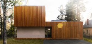 Leśny dom w Kuźnicy Kiedrzyńskiej projektu Grupy VERSO