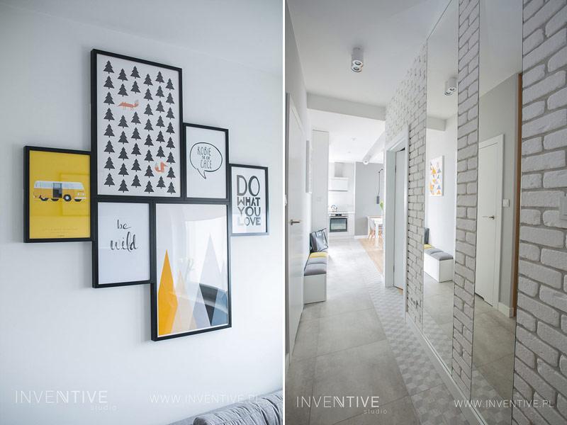 Wnętrza mieszkania. Projekt: INVENTIVE studio Artur Jóźwik oraz AAW Studio Aleksandra Gajewska. Zdjęcia: Paweł Szaławiński