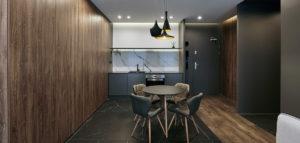 ILUMINO – Eleganckie wnętrza niewielkiego mieszkania w centrum Łodzi projektu mess architects