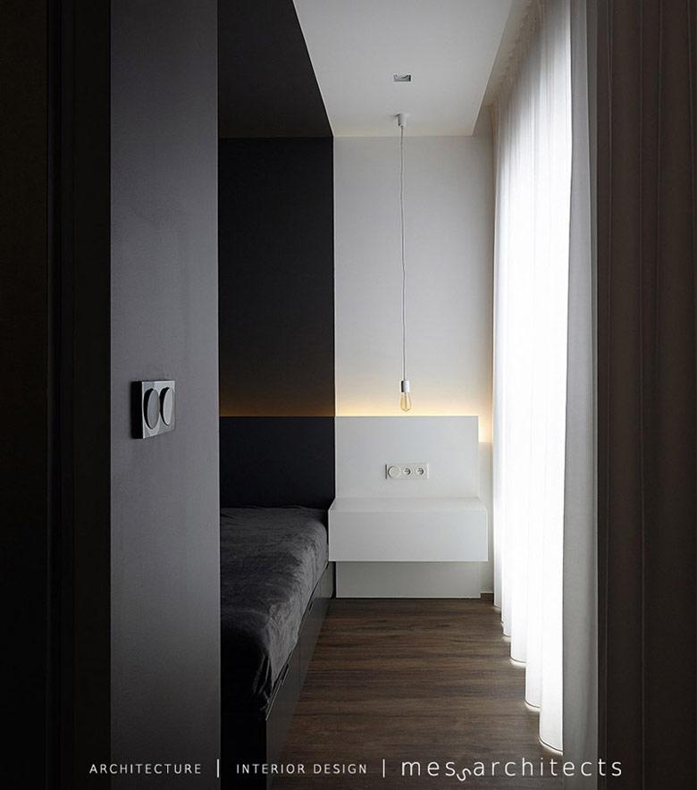 Wnętrze mieszkania ILUMINO. Łódź. Projekt: mess architects