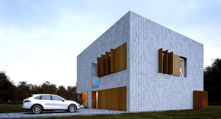 """""""Cube""""   Projekt domu w Warszawie   Pracownia:Mobius Architekci Przemek Olczyk"""
