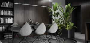 Proste formy i eleganckie połączenie szarości z drewnem – apartament projektu Spacja Studio