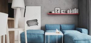 Beton i drewno z ożywiającymi detalami – mieszkanie projektu Spacja Studio