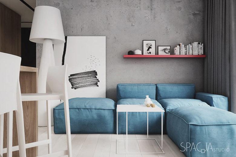 Wnętrza mieszkania w Katowicach. Projekt: Spacja Studio