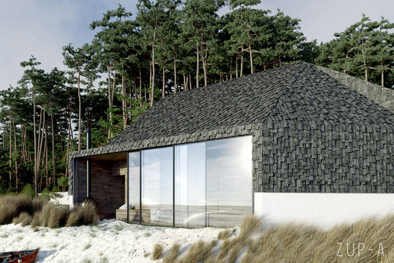 Projekt domu wypoczynkowego przy plaży Autorzy: ZUP-A | Zakład Usług Projektowo-Architektonicznych