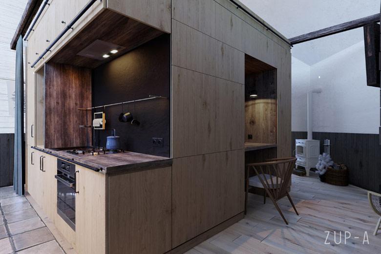 Projekt domu wypoczynkowego przy plaży Autorzy: ZUP-A   Zakład Usług Projektowo-Architektonicznych