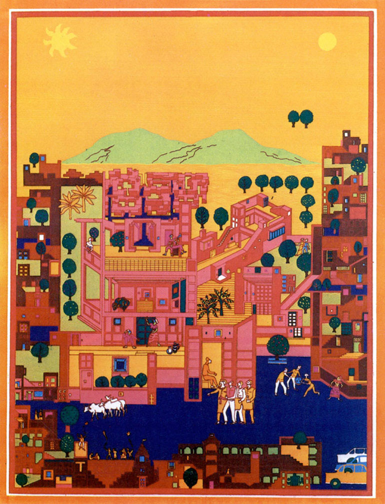 Vidhyadhar Nagar Masterplan and Urban Design, Jaipur, Indie. Zdjęcie dzięki uprzejmości VSF