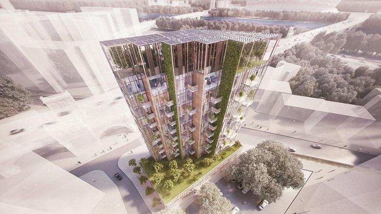 Eco Warsaw Tower. Projekt: BXBstudio Bogusław Barnaś
