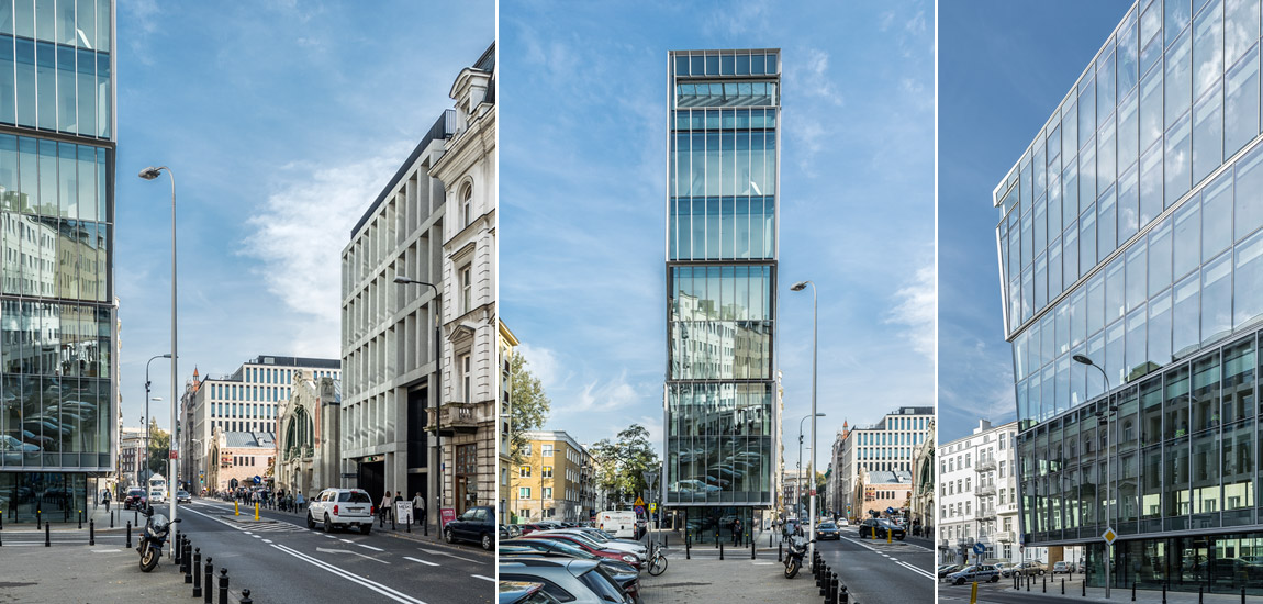 Budynek biurowo–usługowy Piękna 49, Warszawa. Projekt: Grupa 5 Architekci. Zdjęcie: Mikołaj Lelewski