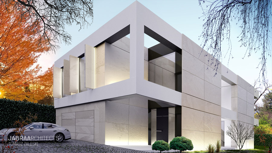Willa Monolith - Projekt domu we Wrocławiu. Autor: JABRAARCHITECTS