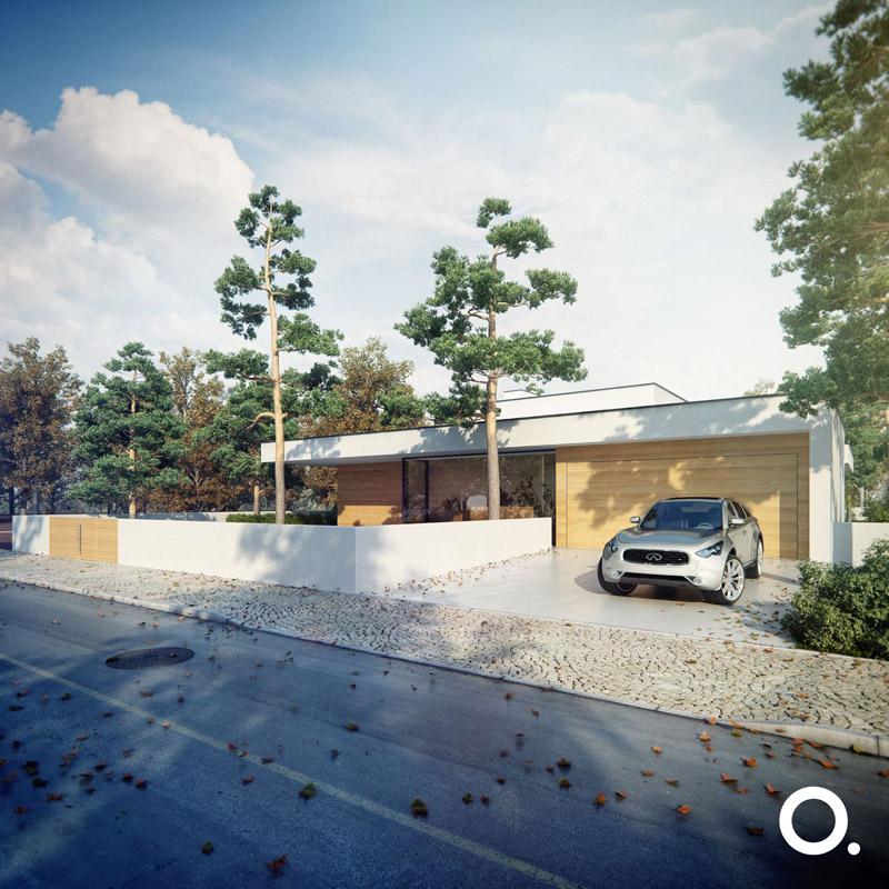 Dom otwarty na naturę w Wesołej. Projekt: STUDIO.O. organic design